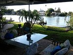 BBQ, fish or just rest and relax at waters edge, several tables to choose from