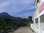 mountain view and enjoy the fresh air outside by the terrase , very quiet and peaceful place
