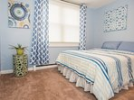 Bedroom with Double bed and relaxing color scheme