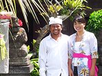 Your hosts Wayan and Putri will guide you to ceremony at temple