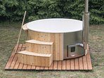 Nightly Wood Fired Eco Hot tub hire available. Includes OzPig.- Please ask.