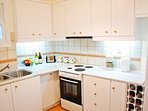 separate fully equipped kitchen