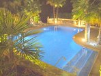 GATED HEATED Floodlit Pool with Easy Roman steps, Aquabike, Double Hammock , 12 Sun Loungers,