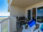 Expansive, private, oceanfront balcony. Enjoy the awesome views and sea breeze.