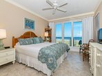 VERY comfortable king bed with quality linens. Spacious oceanfront master suite.