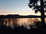 Sunset view of Odell Lake