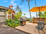 Crack open a cold one and cook up a great meal while enjoying the ocean views at the BBQ area