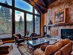 Great Room with Floor to Ceiling Windows