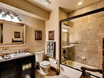 Hall Bath with 2 sinks and tub/shower combo
