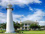 Biloxi famous light house minutes from cottage.