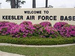 15 minute drive to Keesler AFB