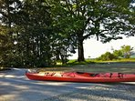 Two complimentary kayaks (and life jackets) for guest use