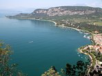 View of Cape San Vigilio from the top of the Rocca (reachable with an amazing trekking route)