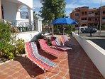 large sunbathing area