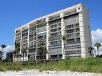 Ambassador building from the beach