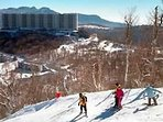 View of SugarTop Resort from the top of the Sugar Mountain ski slopes.