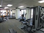 Fitness center on the 1st floor key card need to enter the gym