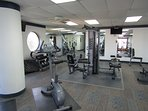 Exercise room on the 1st floor key card needed to enter  the gym