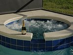 "Here you can enjoy the warm bubbles in this ""never want to leave"" jacuzzi !"