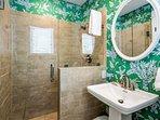 Guest bathroom, walk-in shower!