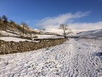 Route to Ingleborough in the snow