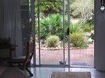 Sliding doors into garden