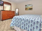 King size bed, private bath and balcony makes this master an ideal vacation spot