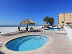 Sea Breeze 608 in Madeira Beach offers a Gulf front pool and spa for guests