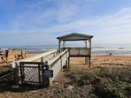 Directly across from Beach House 1703 is a private beach pavilion for your use