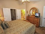King Master Bedroom w/En-Suite Bath & Flat Screen TV - View #2