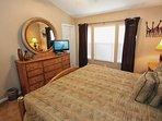 King Master Bedroom w/En-Suite Bath & Flat Screen TV - View #3
