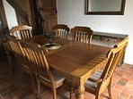 Dining room seats 6, kitchen also seats 6 as well as plenty of garden furniture