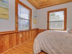 Guests will enjoy their own space and Queen size bed at Crescent Beach Cottages