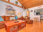 Crescent Beach Cottage is full of character and inspired by the nearby beach