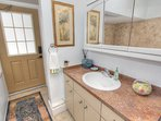 Crescent Beach Cottage has two full bathrooms and features full size laundry