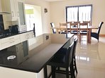 Well equipped Kitchen and dining.