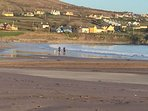 view of ventry village from the beach . great for an early morning walk .