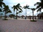 Walk from Ocean Club to beach