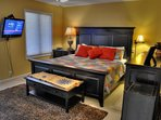 Master Bedroom with King size bed & TV