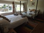 Bedroom 5 - Double with views of the garden and surround fields. Ensuite bath and shower room