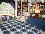 Upper level master bedroom with a King bed and window bench - Fisherman's paradise!