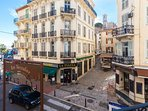 The view of Rue Meynadier from the balcony