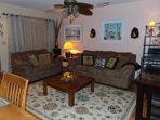 Living Room with Queen Sofa Sleeper and Love Seat