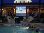 Movie Night at the Resort-Great way to end the evening