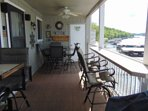 Covered Deck with Seating for 8 and Gas BBQ-Grill