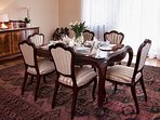 Elegant Dining Room where both family gatherings and corporate meetings are a great experience