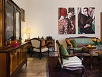 Eclectic Lounge Room perfect for whiskey talks or afternoon tea