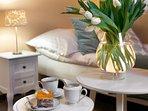Classic Turquoise Double Bedroom en suite with queen bedroom