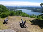 A view of the lake from the top of Mt. Defiance.  Part of an awesome day trip to Ft. Ticonderoga.