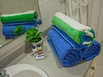 Bath room amenities and pool towels available